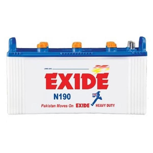 Exide N 190 , buy online - Battery Ustad, exide 145 ah, exide 190, exide 23 plates , exide 190 in islamabad, exide 190 in lahore ,free installation , free delivery
