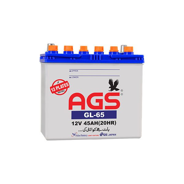 ags gl 65 45ah 13 plates, civic battery, toyota corrola battery, ags gl65,AGS battery in isb, ags battery in islamabad, ags battery in lahore
