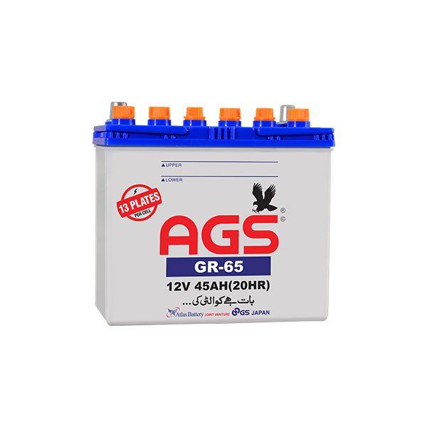 AGS GR-65 13 plates, 45 AH , 1300 CC car battery