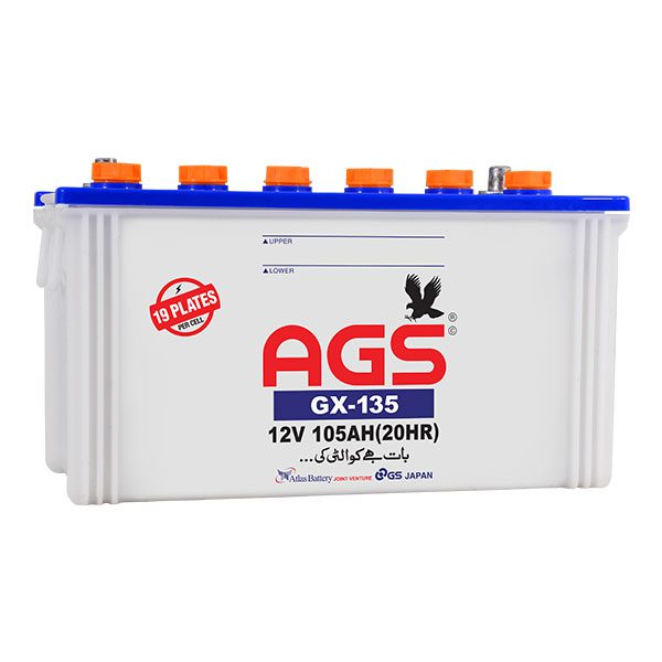 AGS GX 135 19 Plates & 105 AH