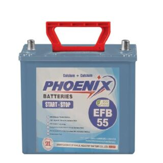 EFB 55_12_VOLTS_09_PLATES_38_AH_PHEONIX_BATTERY_MF battery, _BEST_PRICE_BATTERYUSTAD_ISLAMABAD_RAWALPINDI_LAHORE_MULTAN_FAISLABAD_FSD_ISB_LHR, dry battery, phoenix dry battery, prado dry battery. hilux dry battery, phoenix dry battery, ECO 55 L , online order, home delivery, free installation , battery in Islamabad , EFB 55 L