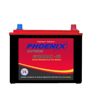 EUROMAX 55_12_VOLTS_09_PLATES_38_AH_PHEONIX_BATTERY_MF battery, _BEST_PRICE_BATTERYUSTAD_ISLAMABAD_RAWALPINDI_LAHORE_MULTAN_FAISLABAD_FSD_ISB_LHR, dry battery, phoenix dry battery, prado dry battery. hilux dry battery, phoenix dry battery, euromax 55 L , online order, home delivery, free installation , battery in Islamabad , phoenix mf 55 L