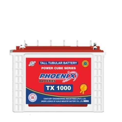 Phoenix tx 1000, tx 1000, phoenix tall tubular battery, phoenix 110 ah tubular battery, BEST_PRICE_BATTERYUSTAD_ISLAMABAD_RAWALPINDI_LAHORE_MULTAN_FAISLABAD_FSD_ISB_LHR, , prado dry battery , online order, home delivery, free installation , battery in Islamabad