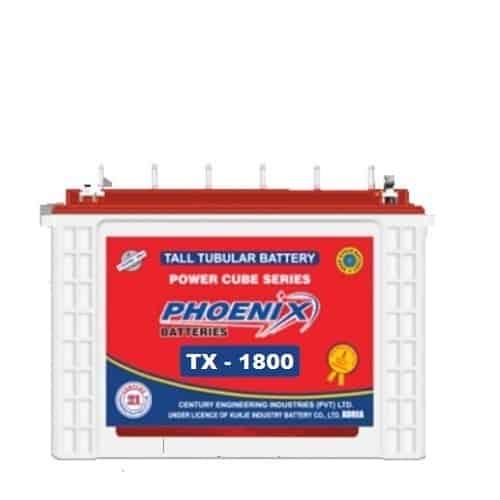 Phoenix tx 1800, tx 1800, phoenix tall tubular battery, phoenix 185 ah tubular battery, BEST_PRICE_BATTERYUSTAD_ISLAMABAD_RAWALPINDI_LAHORE_MULTAN_FAISLABAD_FSD_ISB_LHR, , prado dry battery , online order, home delivery, free installation , battery in Islamabad