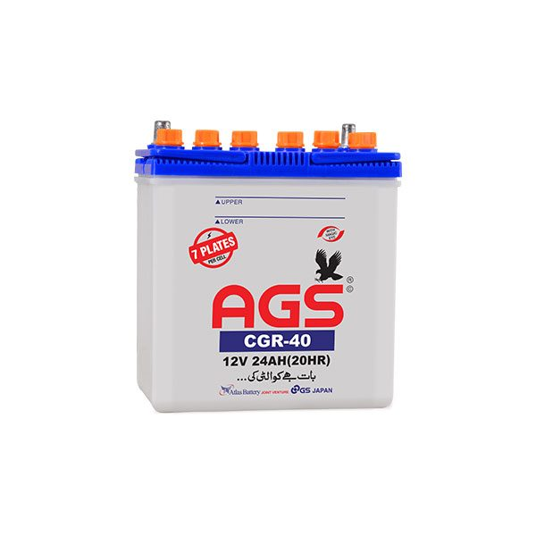 ags CGR-40 24AH & 7 Plates ags battery
