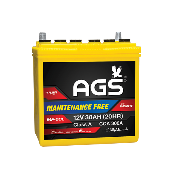 ags MF 50L ,ags 11 plates, ags 38 ah , ags mf 50 , honda city battery, ags mf battery , ags mf battery, ags mf battery in islamabad , ags mf battery in lahore, ags mf 11 plates battery